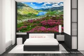 Tranh dán tường phong cảnh sông núi m065