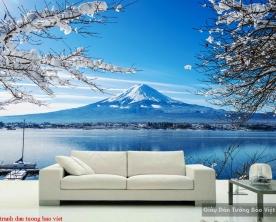 Tranh dán tường phong cảnh sông núi m076