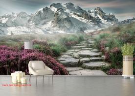 Tranh dán tường phong cảnh núi m085