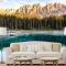Tranh dán tường phong cảnh sông núi m081