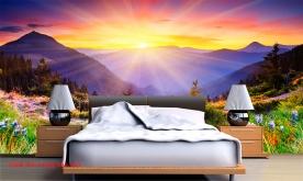 Tranh dán tường phong cảnh sông núi m086
