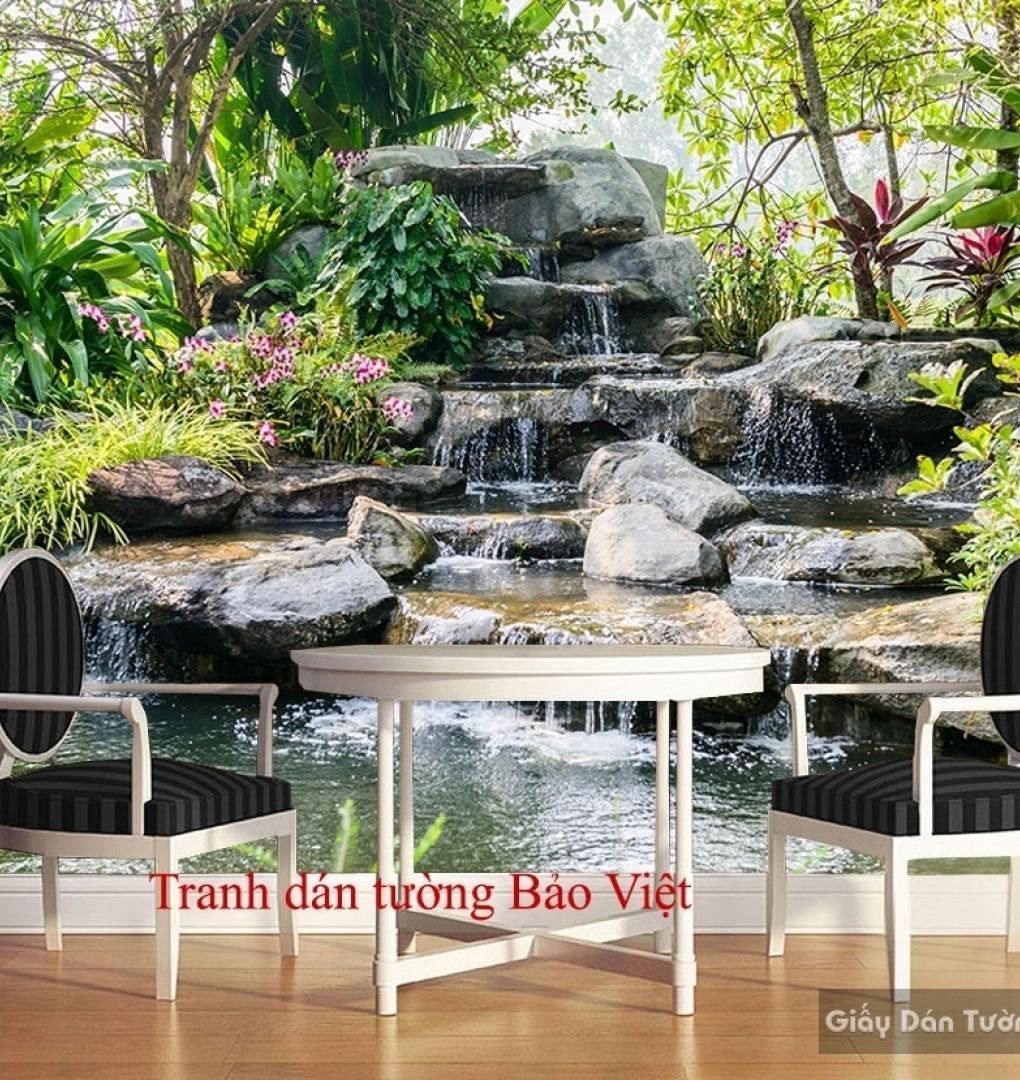Tranh dán tường thác nước đẹp W100