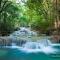 Tranh dán tường thác nước đẹp W124
