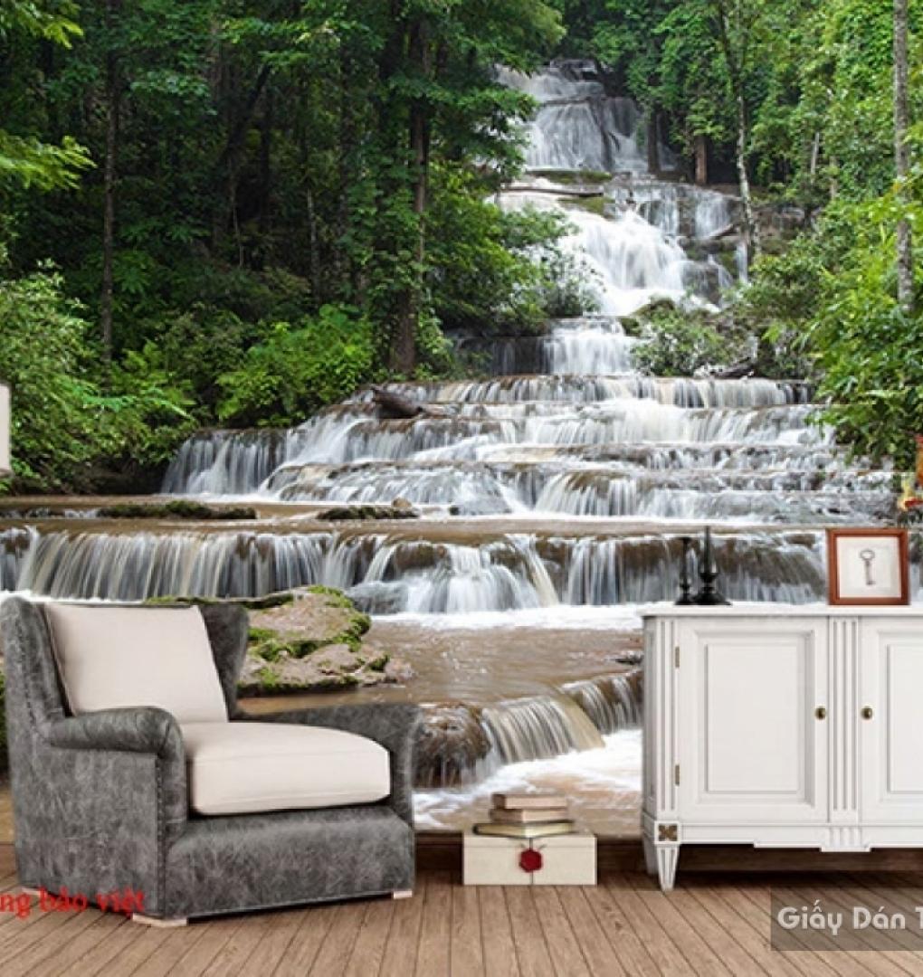 Tranh dán tường thác nước đẹp W141