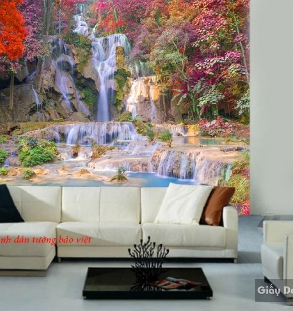 Tranh dán tường thác nước đẹp w158
