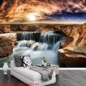 Tranh dán tường thác nước 3d me027