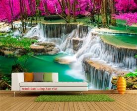 Tranh dán tường thác nước đẹp w194