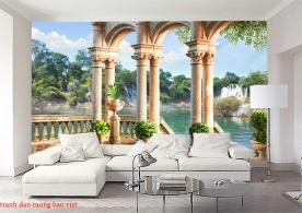 FM422 waterfall wall paintings