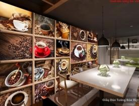 Tranh dán tường 3D cho quán cafe D195