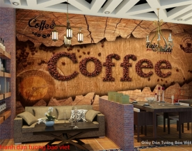 Tranh dán tường 3D cho quán cafe D225