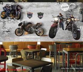 Tranh dán tường 3d cho quán cafe Fm389