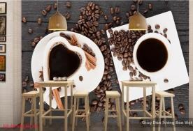 Tranh dán tường 3d cho quán cafe v093