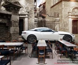 Tranh dán tường 3d cho quán cafe v286