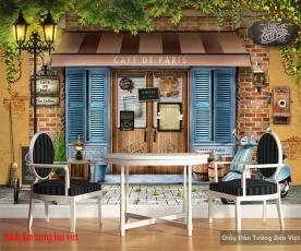 Tranh dán tường cho quán cafe 3d fm390