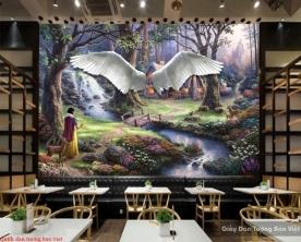 Tranh dán tường cho quán cafe Fm342