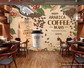 Tranh dán tường cho quán cafe Fm378