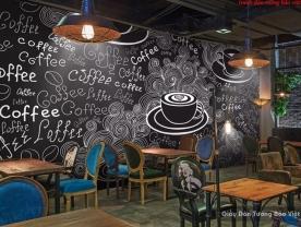 Tranh dán tường cho quán cafe d194