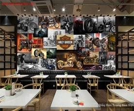 Tranh dán tường cho quán cafe fm396
