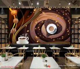 Tranh dán tường cho quán cafe v315