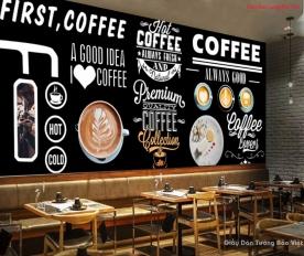 Tranh dán tường cho quán cafe v329