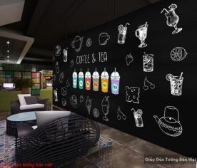 Tranh dán tường cho quán trà sữa d200