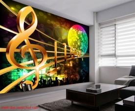 Tranh dán tường 3d cho phòng karaoke me046