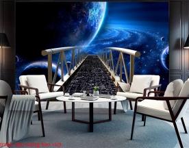 Tranh dán tường 3d cho quán cafe c191