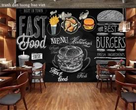 Tranh dán tường cho quán ăn fm459
