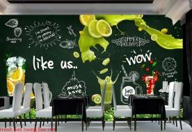 Tranh dán tường cho quán cafe fm424
