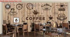 Tranh dán tường cho quán cafe fm429