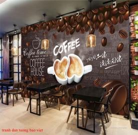 Tranh dán tường cho quán cafe fm431
