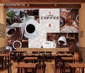 Tranh dán tường cho quán cafe me064