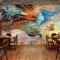 Tranh dán tường cho quán cafe Fm409