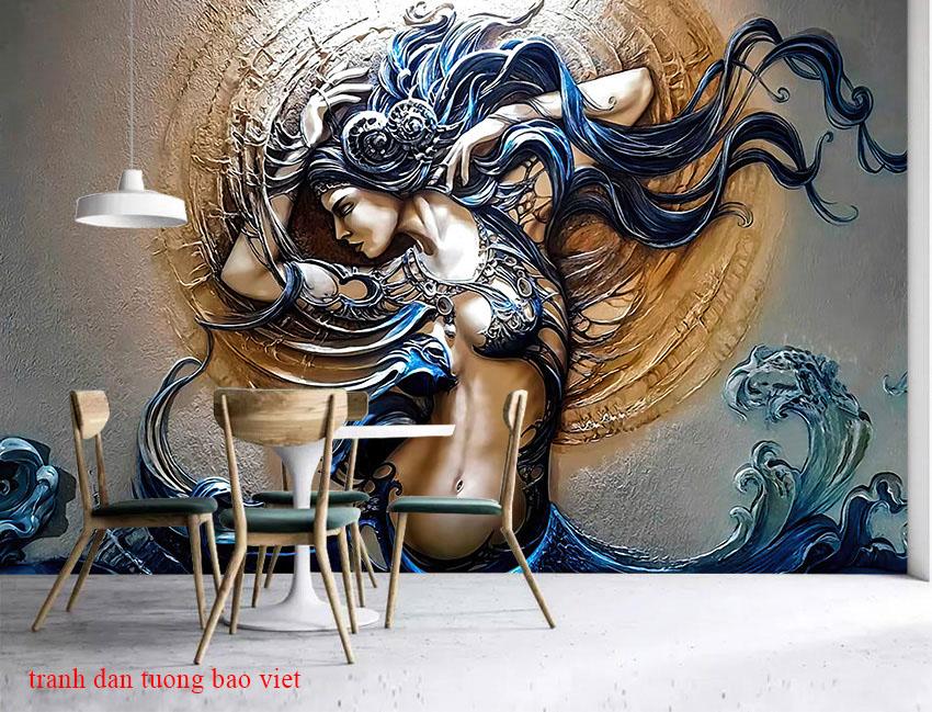 Giấy dán tường cho nails và spa