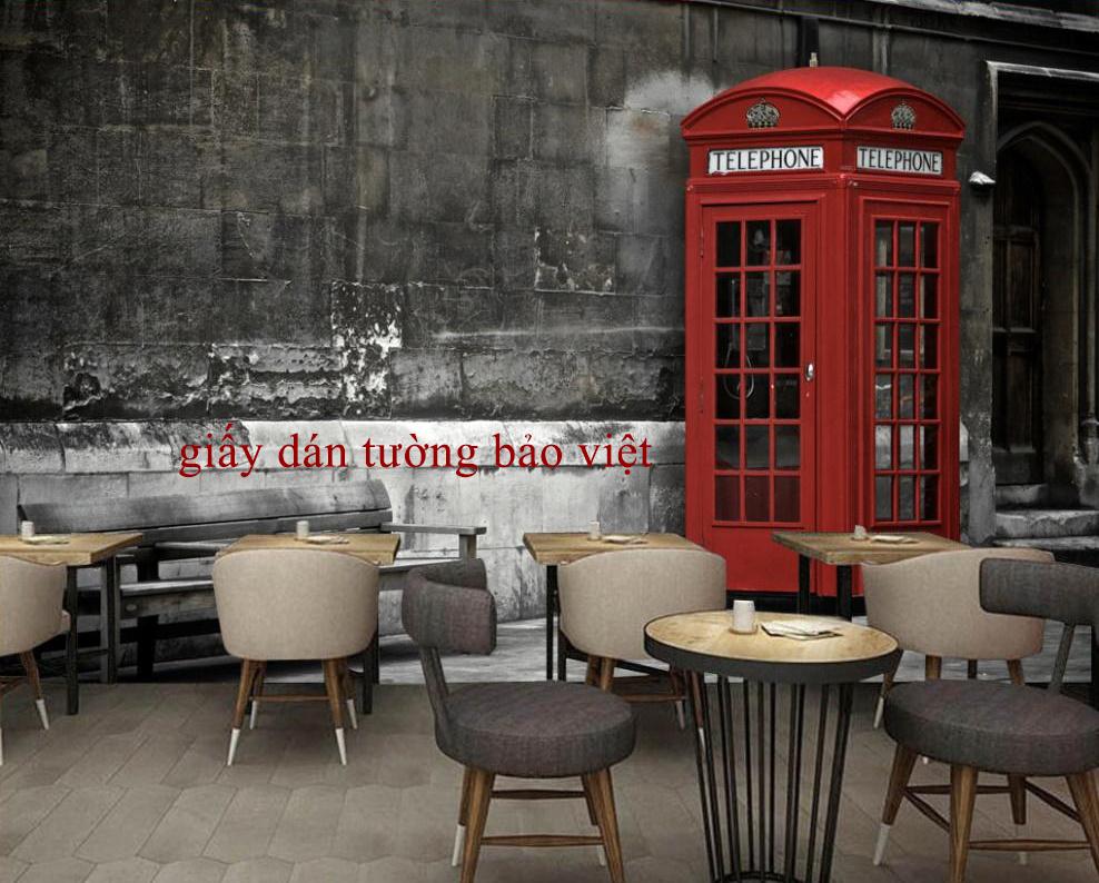 Tranh giấy dán tường 3D trang trí cho quán café