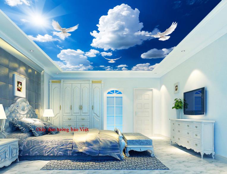 Cập nhật mẫu giấy dán tường 3d dán trần nhà ( P2)