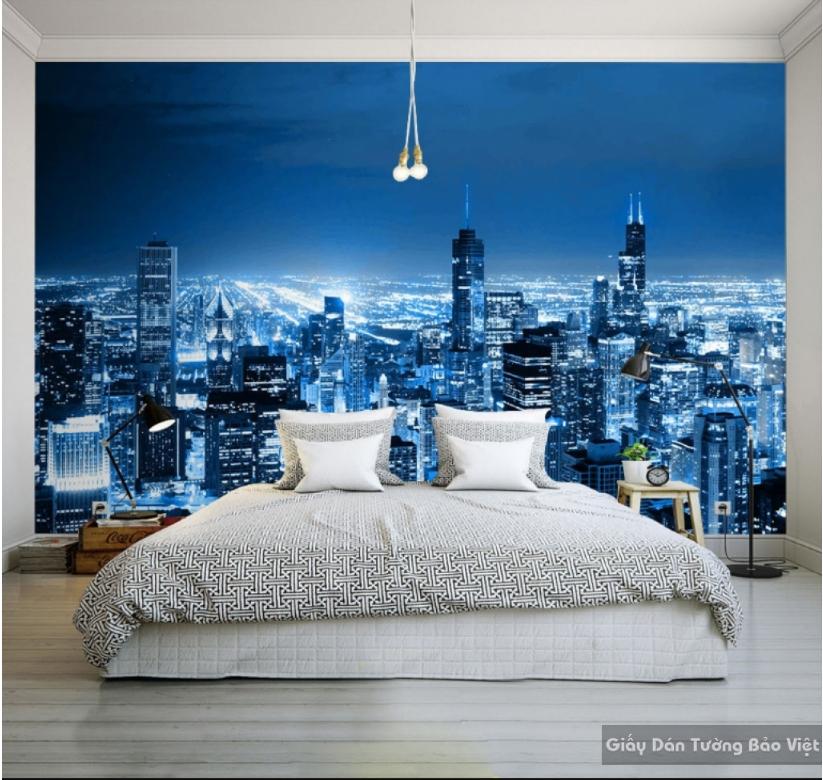 Giấy dán tường 3d tạo điểm nhấn nổi bật cho tường nhà bạn