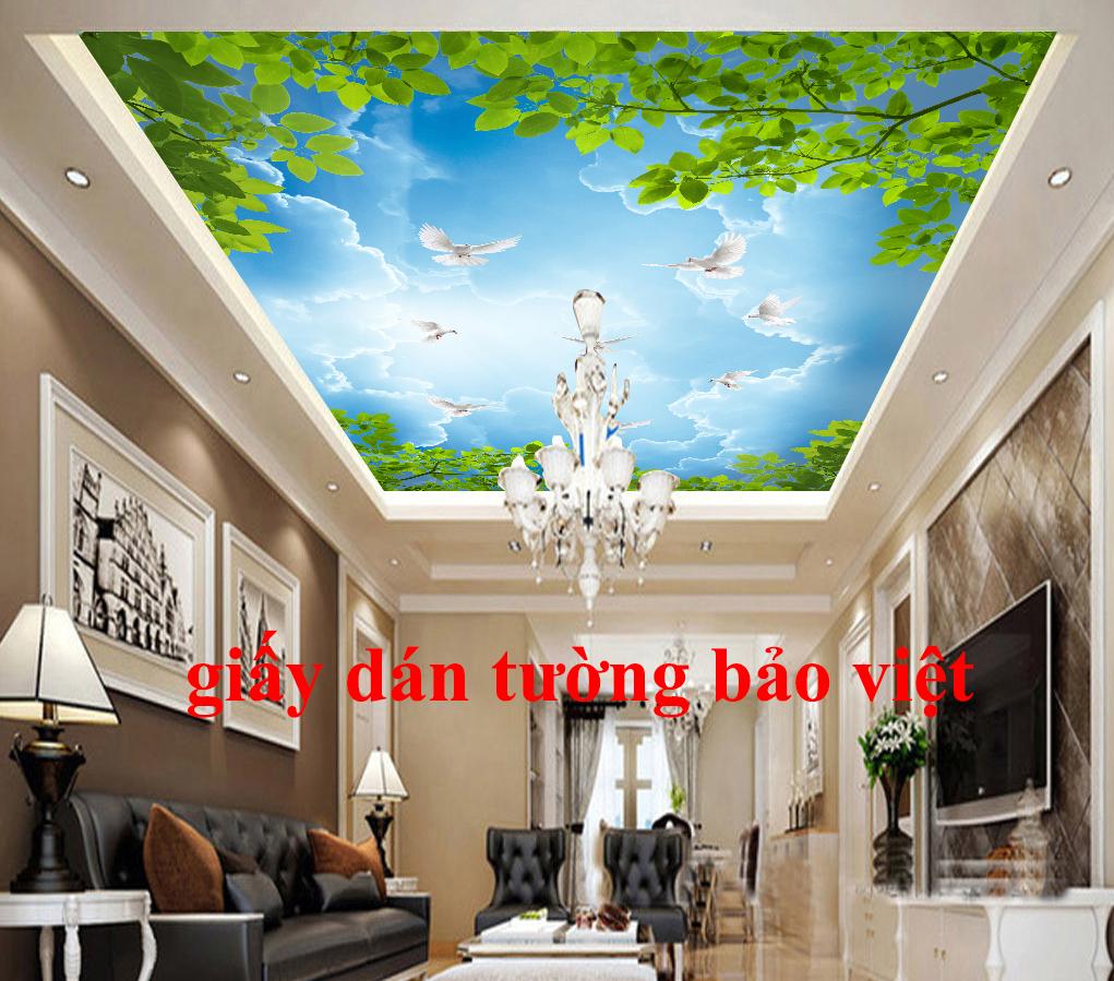 Các mẫu giấy dán tường 3d đẹp phù hợp để dán trần nhà (p1)