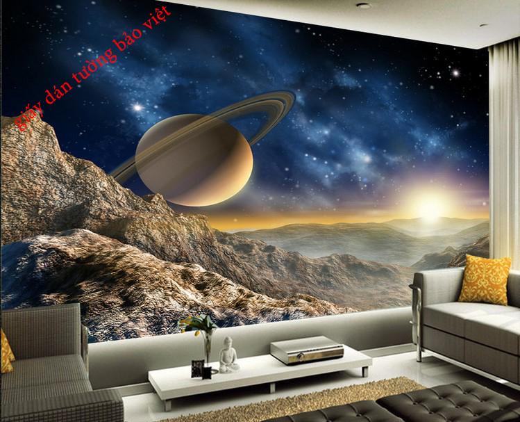 Các mẫu giấy dán tường 3D Galaxy đẹp dán tường & trần nhà