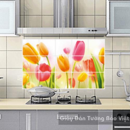Dán Tường Bếp-Hoa Tulip to