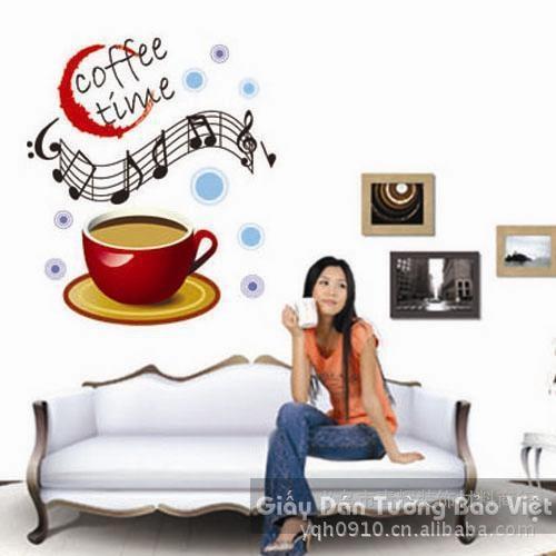 Dán Tường Bếp-Ly cà phê 2