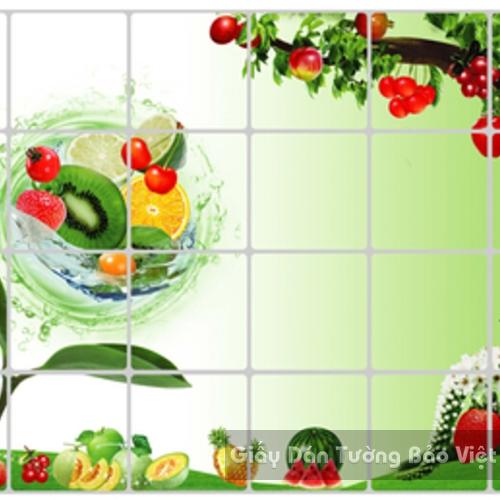 Dán Tường Bếp-Trái cây to 2 (không có viền ô vuông )