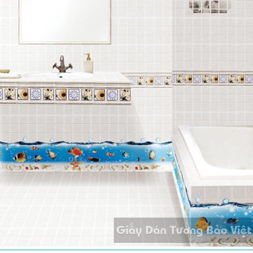 Dán Tường Phòng Tắm-Chân tường đại dương 1