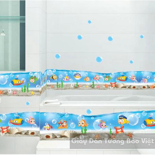 Dán Tường Phòng Tắm-Chân tường đại dương 2
