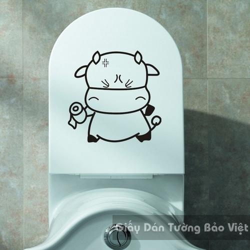 Dán Tường Phòng Tắm-Hà mã trắng