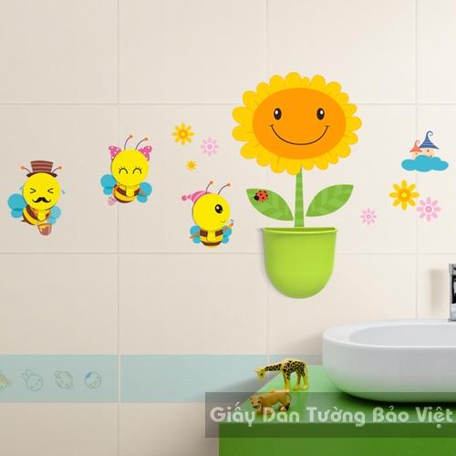 Dán Tường Phòng Tắm-Hộp tiện dụng hình hoa mặt trời