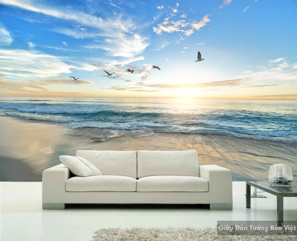 Đặt in Giấy dán tường 3D phong cảnh biển S009