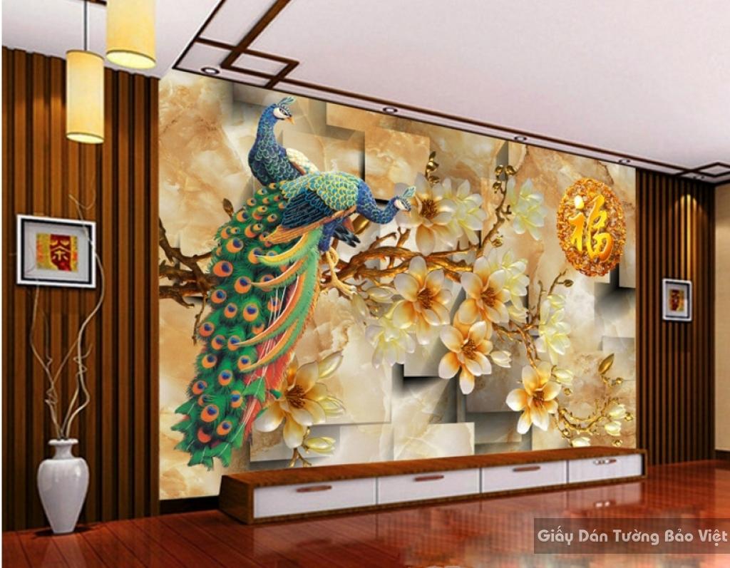 Gạch 3D ốp tường phong thủy đẹp FT010