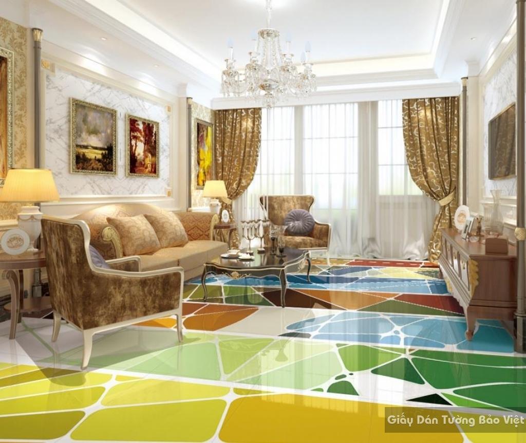 Gạch 3d lát sàn phòng khách R001-m