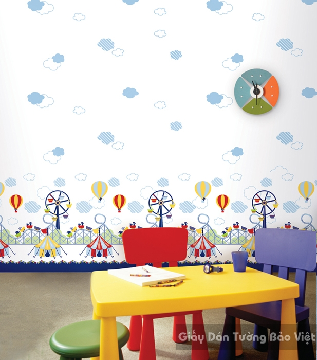 Giấy Dán Tường Phòng trẻ em-A1015-1m